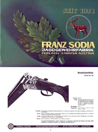 Franz Sodia (Austria) c1985 Gun Catalog