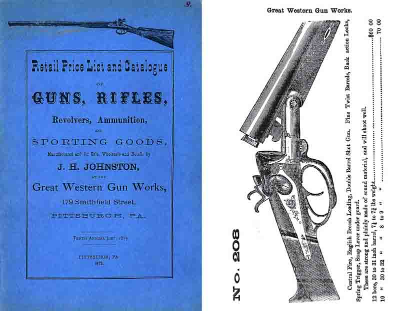 Great Western Gun Works 1872 (Pittsburg) Gun Catalog