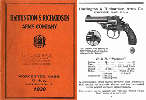 Harrington & Richardson Arms 1930 Gun Catalog