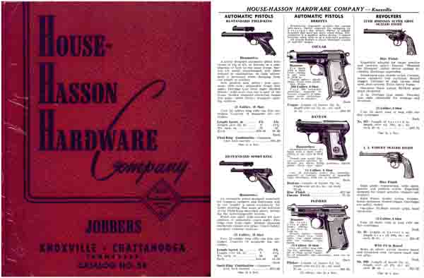 House-Hasson Hardware Co, Knoxville-Chattanooga 1954 Gun Catalog