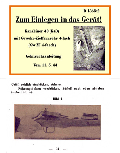 Karabiner 43 Gun Manual
