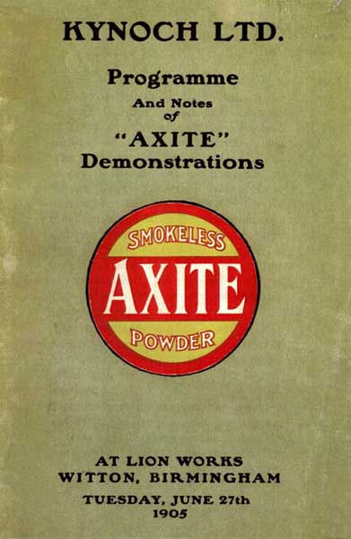 Kynoch 1905 Axtite Powder Catalog