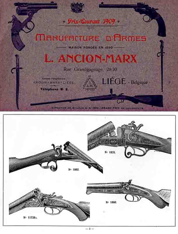L. Ancion Marx 1909 Gun Catalog