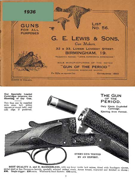 GE Lewis & Sons 1936 Gun Catalog