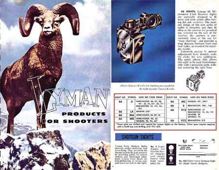 Lyman 1955 Sights and Reloading Tools No. 40 Catalog