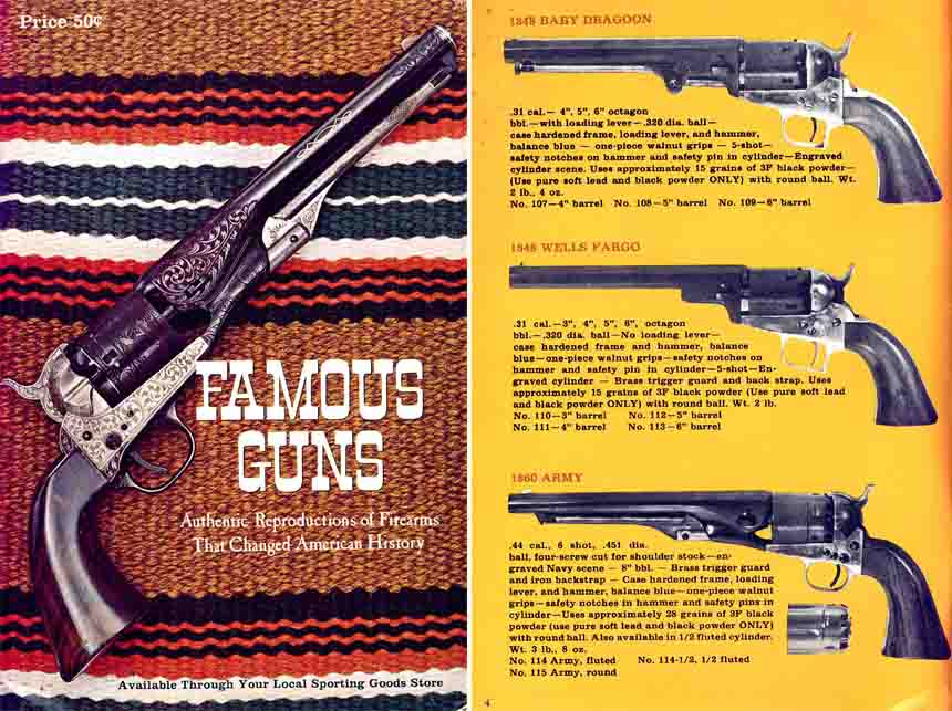 Replica Arms Co.  (Famous Guns) c1968 Gun Catalog