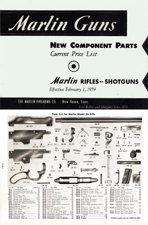 Marlin 1959 Gun Parts Catalog