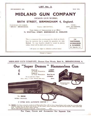 Midland Sporting Guns 1949 Catalog