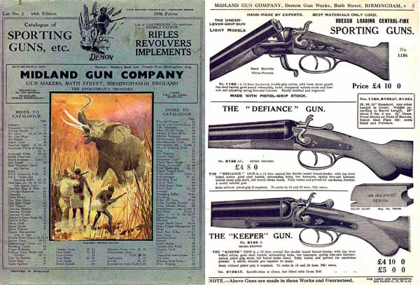 Midland Sporting Guns 64th ed 1936 Catalog