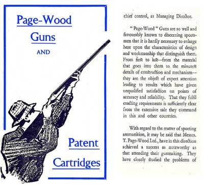 Page-Wood Guns & Ammunition (UK) c1927