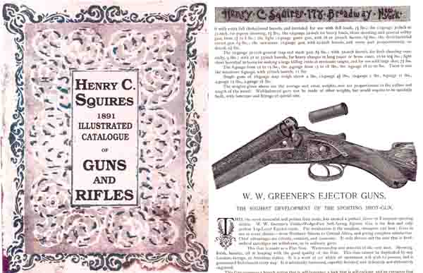 Squires, Henry C.- Sportsmen's Supplies 1891 Catalog (NY)