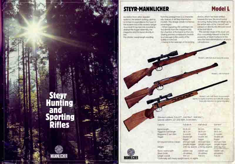 Steyr-Mannlicher Schoenauer Repeating Sporting Rifles c1981 (in English-Catalog)
