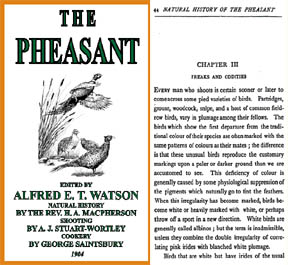 The Pheasant 1904 edited by Alfred T. Watson