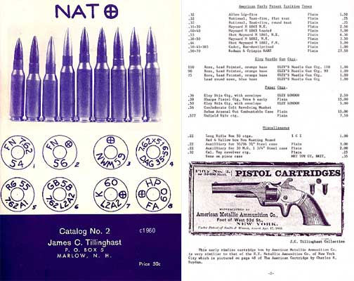 Tillinghast Ammunition 1955 Catalog