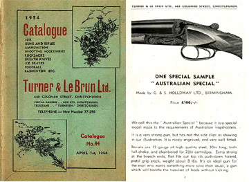 Turner & LeBrun (New Zealand- Guns & Access.) 1954