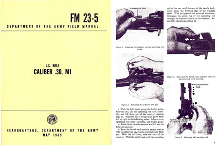 MI 1965 U.S. Rifle Model.30 Cal Field Manual