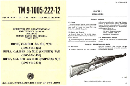 U.S. Rifle Model M1 1969 .30 Cal Technical Manual