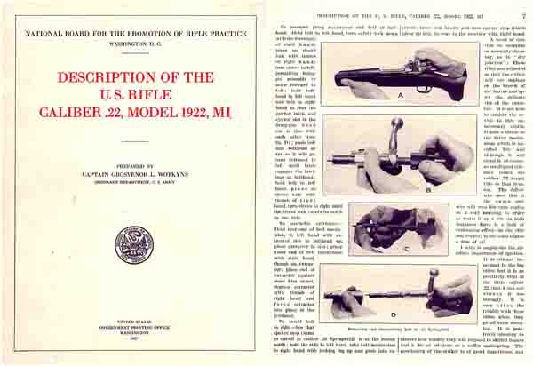 US Rifle Model 1922 - 22 cal M1 Manual