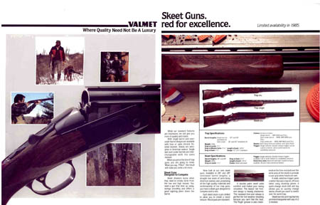 Valmet (Finland) 1985 Gun Catalog