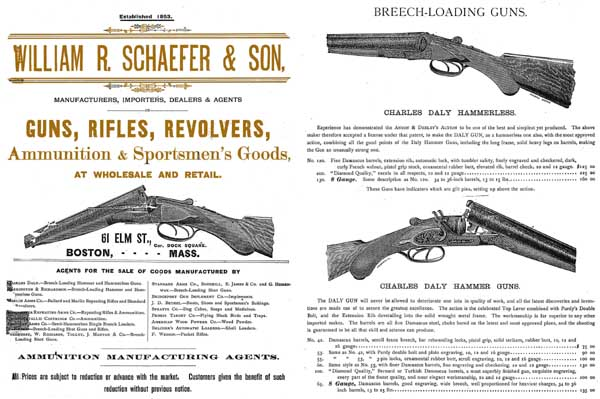 Schaefer, Wm c1885, Boston, MA Gun Catalog