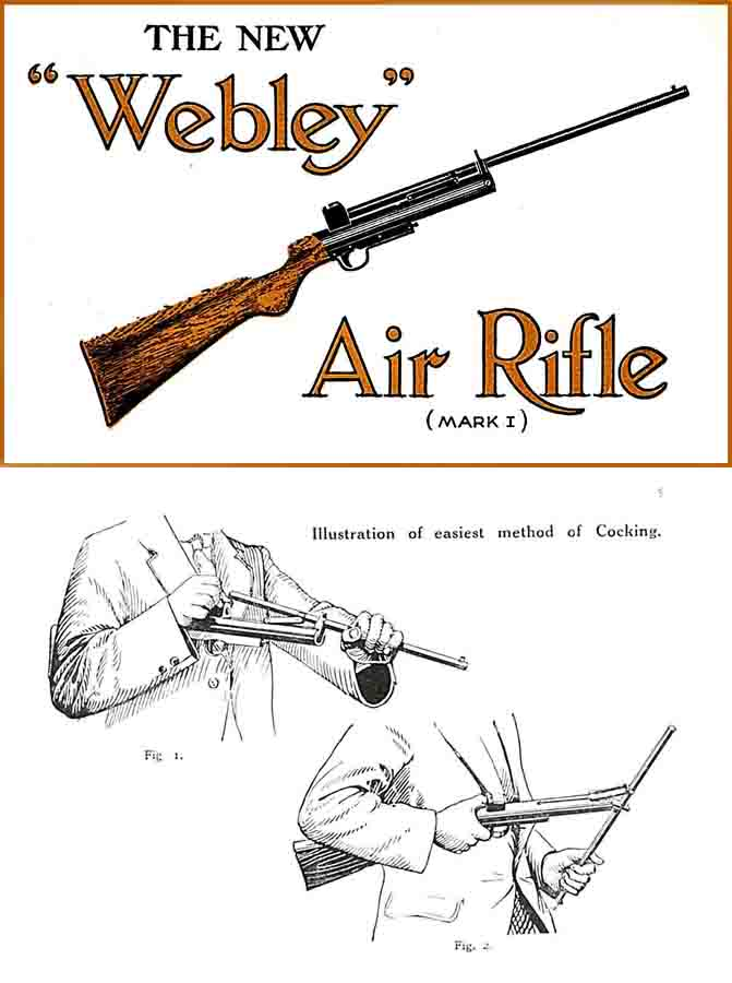 Webley & Scott c1920s Mk I Air Rifle Manual