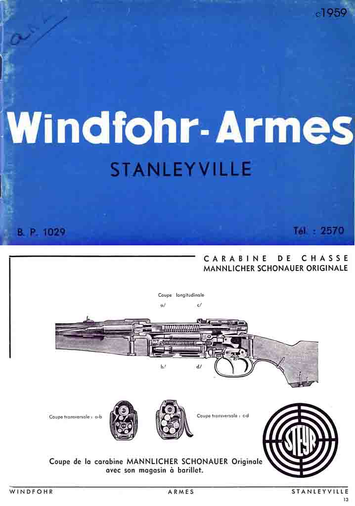 Windfohr-Armes, (Stanleyville, Belgian Congo) c1959