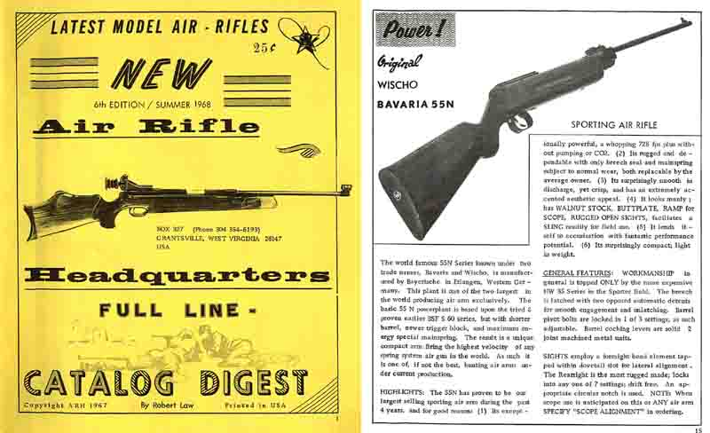 Air Rifle Headquarters 1967-68 Air Gun Catalog