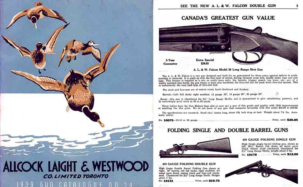 Allcock Laight & Westwood Co. Ltd. 1939 Gun Catalogue (Toronto)