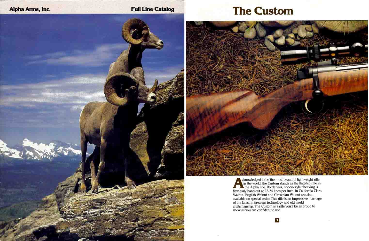 Alpha Arms 1985 Gun Catalog, Dallas TX