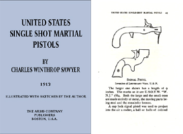 United States Single Shot Martial Pistols by CW Sawyer 1913