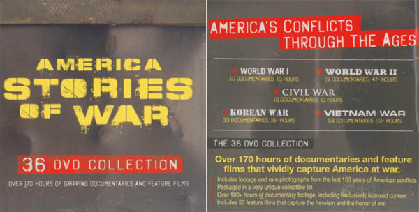 America Stories of War - 36 DVD Collection- 50 Films & 100+ hours Documentaries