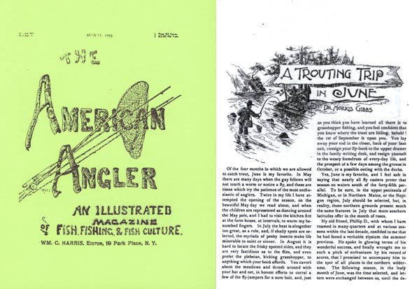The American Angler August 1893