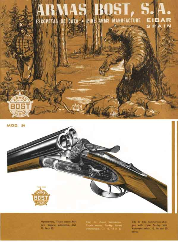 Armas Bost, SA 1965 Shotguns Catalog, Eibar, Spain