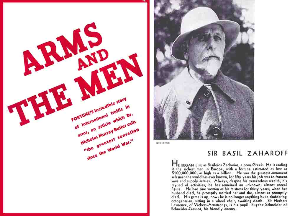 Arms and the Men 1934 (Arms Dealers of the 1930s)