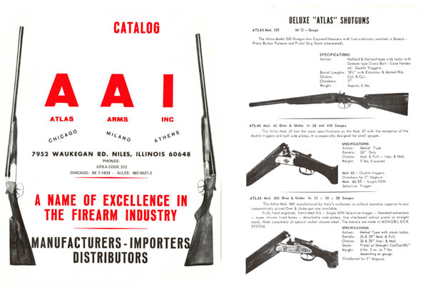 Atlas Arms Inc. c1965 - Niles Il.