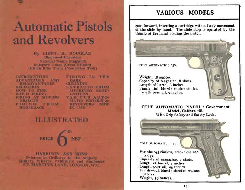 Automatic Pistols and Revolvers 1914 - Wartime UK Guide