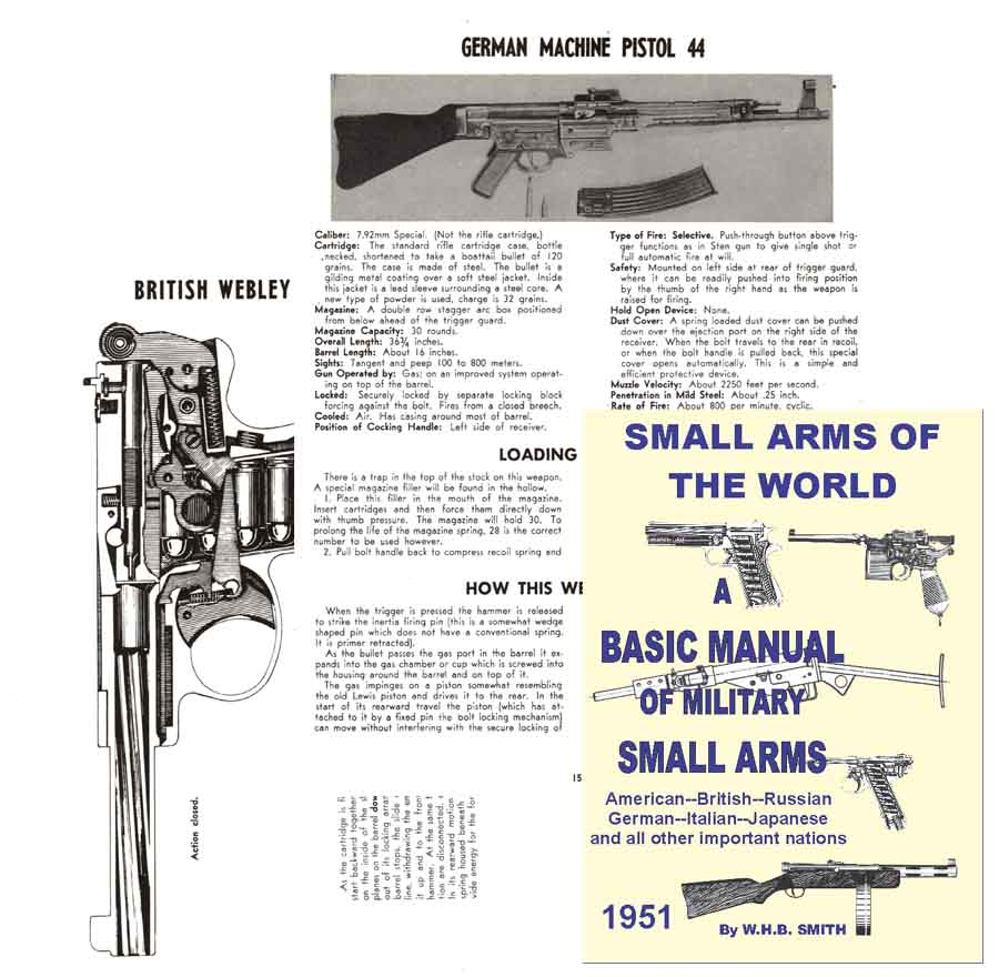 Small Arms of the World - W.E.B. Smith 1951 Big Edition