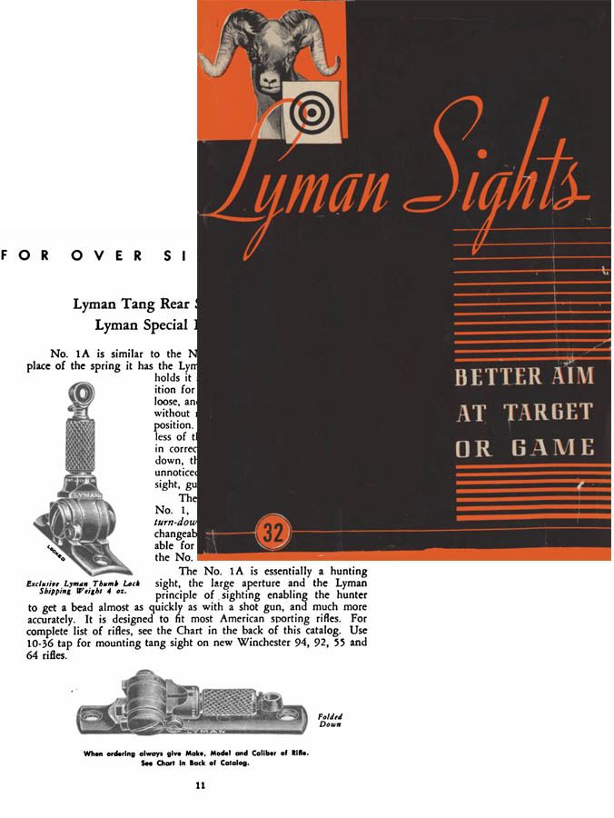 Lyman Sights c1947 No. 32
