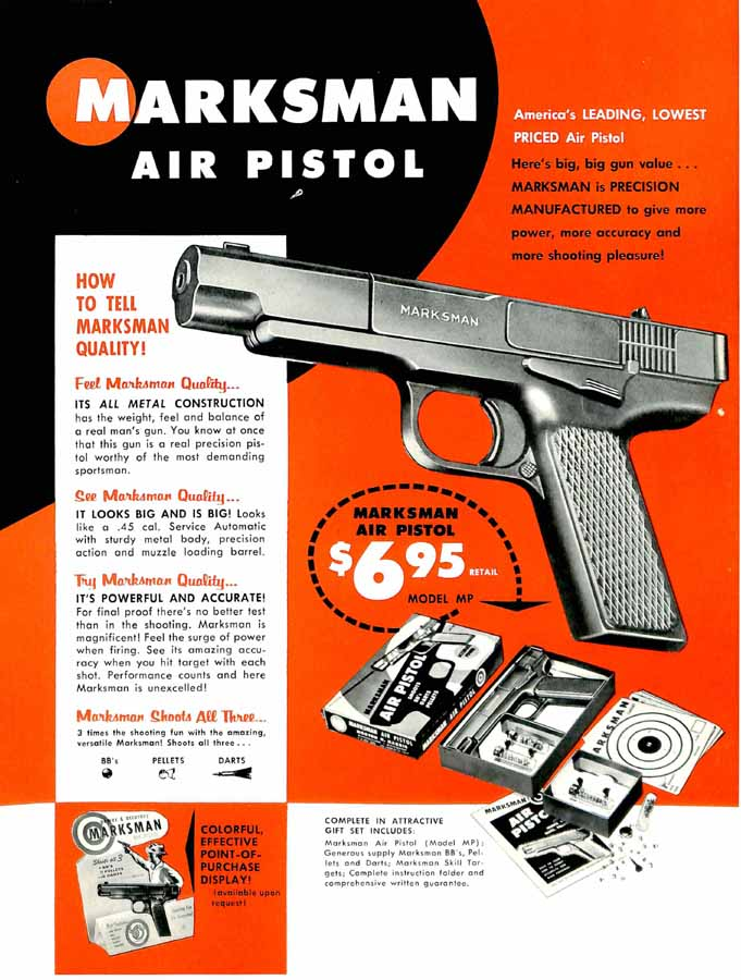Marksman 1968 Air Pistol Flyer