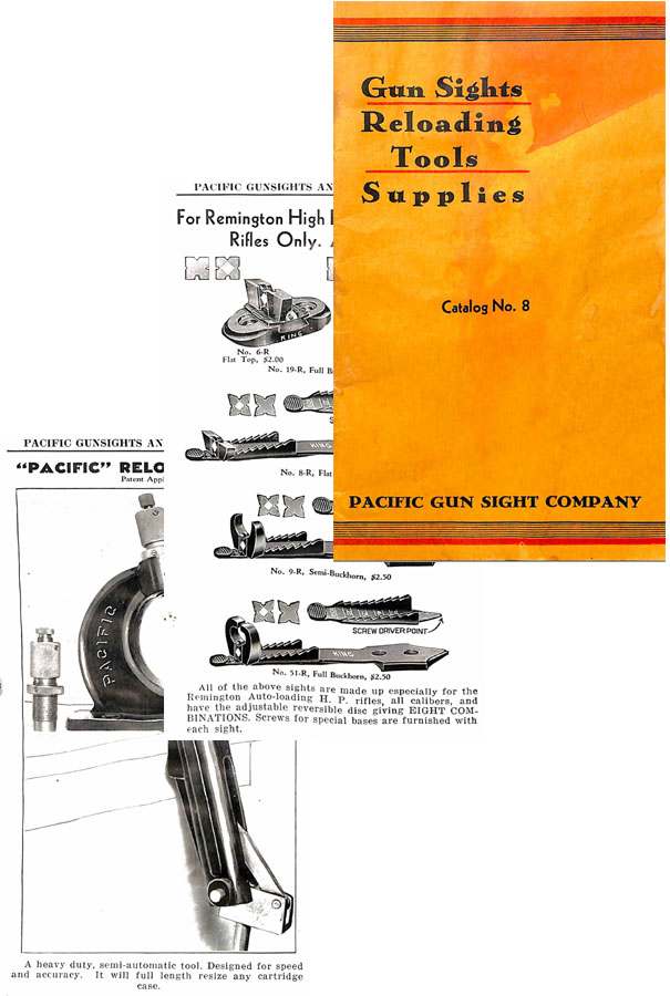 Pacific c1934 Gun Sight Co. No.8