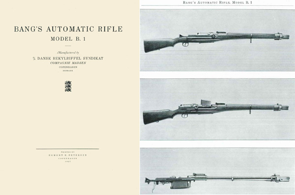 Bang's 1927 Automatic Rifle Model B.1- Denmark Manual