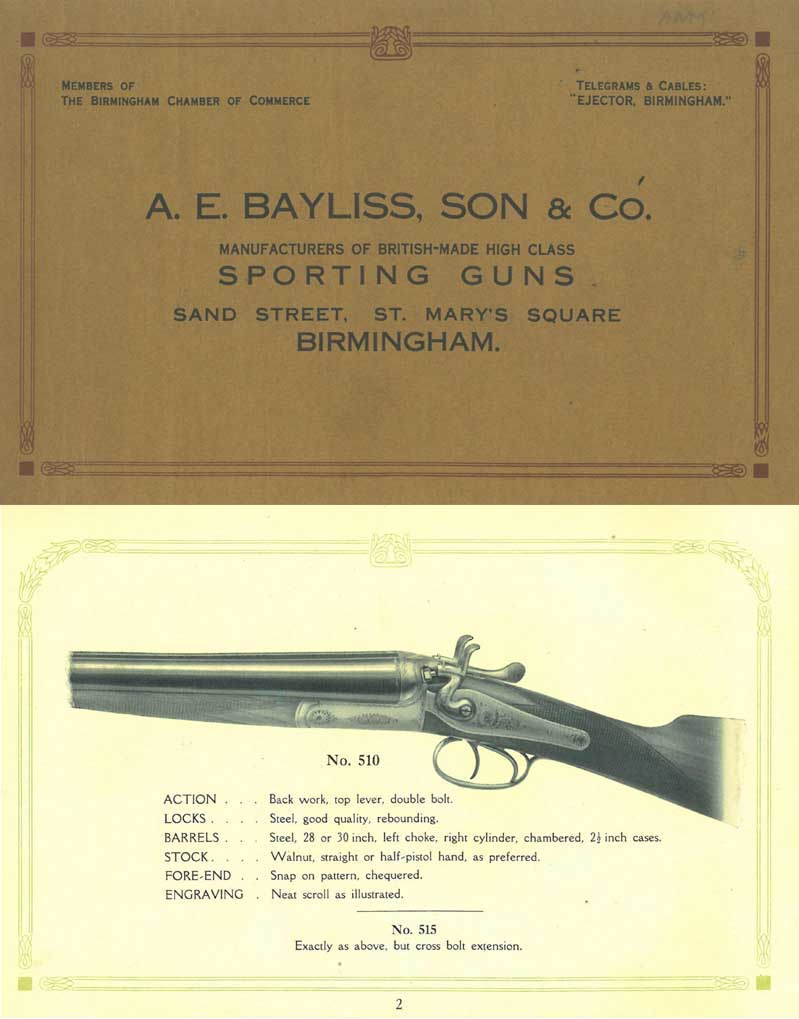 A.E. Bayliss 1924 Sporting Guns Catalog