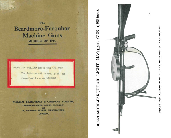 Beardmore-Farquhar Machine Guns Models of 1924- Glasgow -Manual