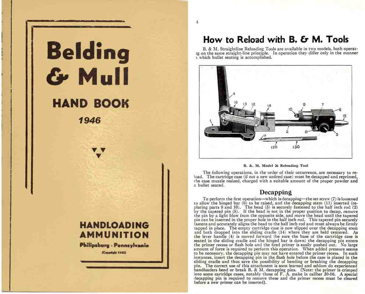 Belding & Mull Sights and Reloading 1946 Catalog