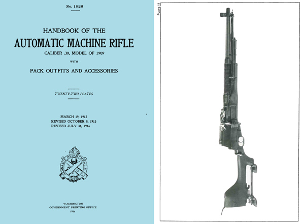 Hotchkiss 1916 Automatic Machine Rifle M1909 Benet-Mercier Handbook