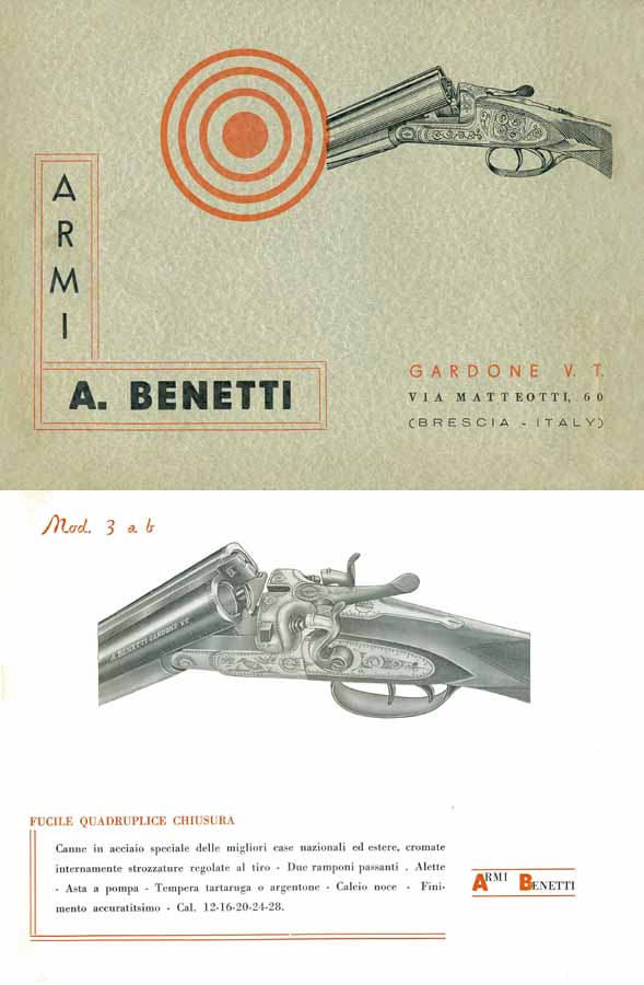 Armi Benetti Armi Catalogue c.1965