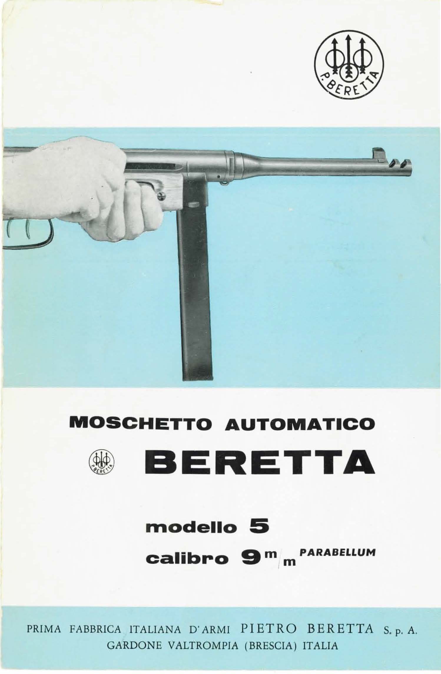 Beretta A5 Submachinegun Manual Flyer