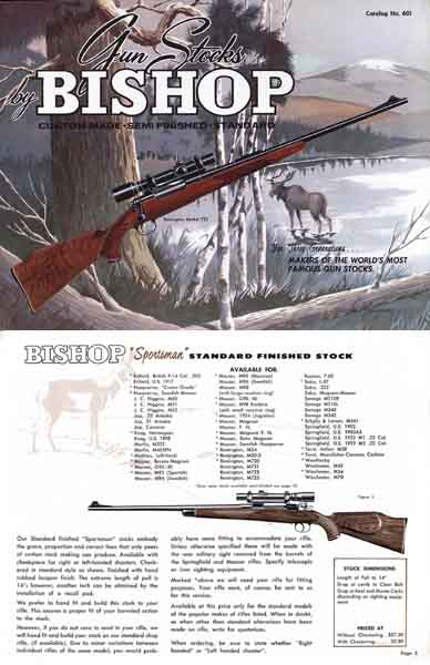 Bishop Gun Stocks 1959 Catalog