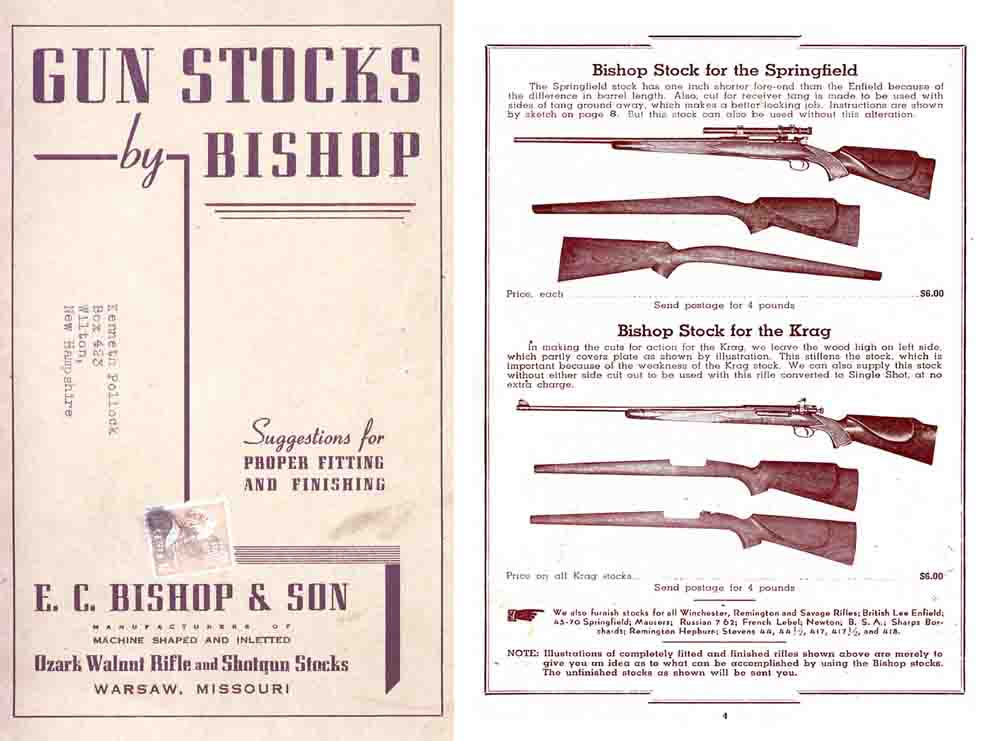 Bishop Gun Stocks c1948 Catalog