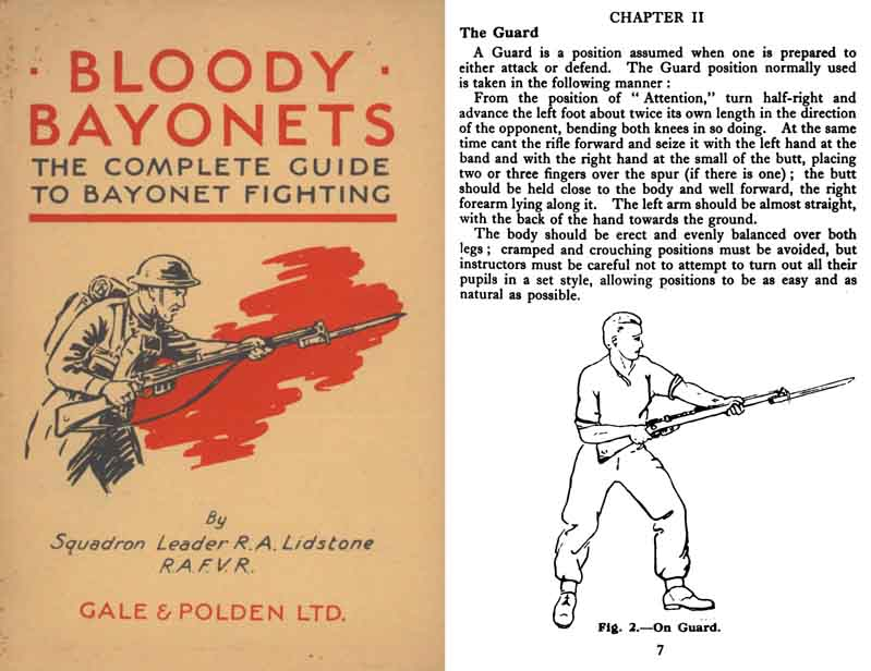 Bloody Bayonets 1942 The Complete Guide to Bayonet Fighting (UK)